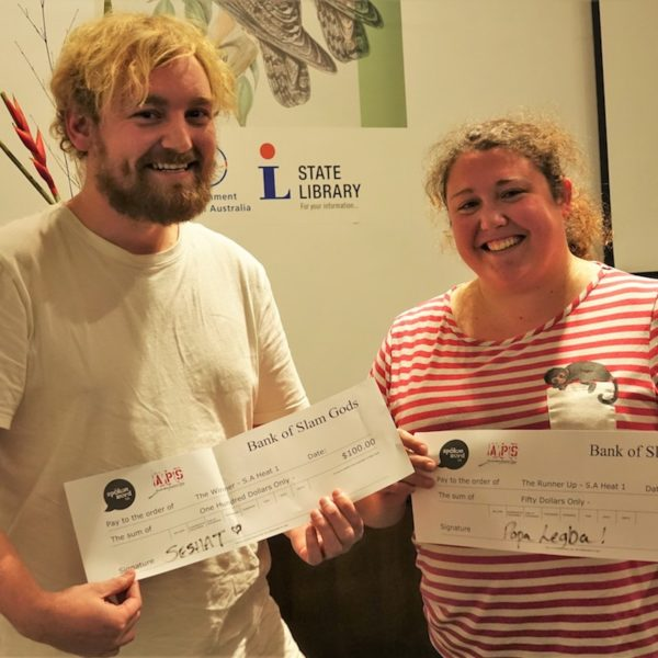 Andrew Drake and Sarah Jane Justice – winner and runner up heat 1