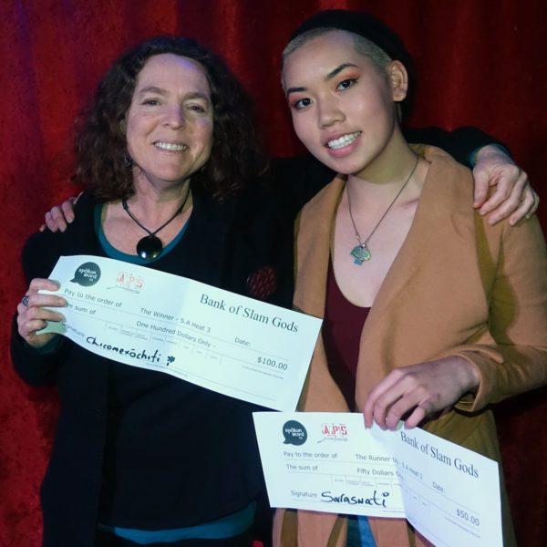 winner Caroline Reid and runner up Emma Tan heat 3